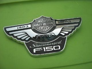 FORD TRUCK HARLEY DAVIDSON SUPERCHARGED F150 ANNIVERSARY EMBLEM GENUINE OEM 16B114/115AA F 150 16B114/115BA LOBO: Everything Else