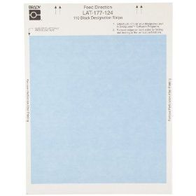 "Brady LAT 177 124 BL 7.9"" Width x 0.475"" Height, B 124 Non Adhesive Paper, Matte Finish Blue Laser Printable Insert (Pack of 180): Industrial & Scientific"