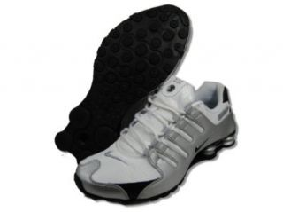 Nike Shox NZ White/Black/Silver Mens Running Shoes 378341 124, 13 M: Shoes