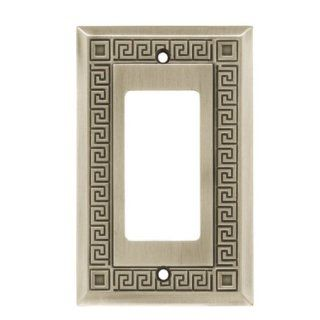 Liberty W117ZMC BSP C5 Grk Key Sngl GFCI/Rock Wall Plate / Switch Plate / Cover: Home Improvement