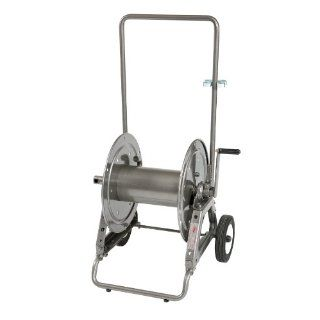"Hannay Reels Series 1100 Portable Hose Reels on Rubber Wheels, 5/8"" x 125' Hose Capacity, Max 3000 psi, Manual Rewind: Industrial & Scientific"