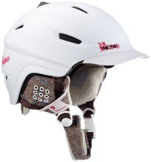 Salomon Poison Ski Helmet (White Matt, X Small) : Ski Helmet Women : Sports & Outdoors