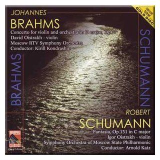 Brahms   Concerto for violin and orchestra in D major, Op.77   Schumann   Fantasia, Op.131 in C Major   Katz, Kondrashin (CD): Music