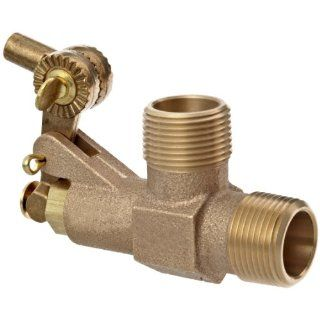 "Robert Manufacturing RC810 CASA Series Bob Red Brass Float Valve with Compound Operating Lever, 1"" NPT Male Inlet x Free Flow Outlet, 138 gpm at 85 psi Pressure: Industrial & Scientific"