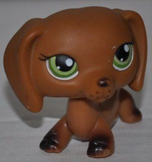 Dachshund #139 (Brown, Green Eyes,) Littlest Pet Shop (Retired) Collector Toy   LPS Collectible Replacement Single Figure   Loose (OOP Out of Package & Print): Everything Else