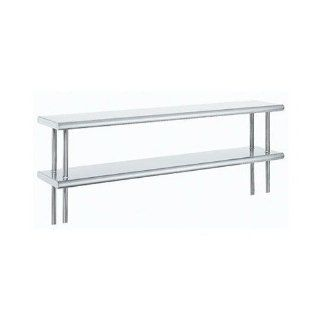 "Advance Tabco ODS 15 132R 15"" x 132"" Table Rear Mounted Double Deck Stainless Steel Shelving Unit wi   Kitchen Products"
