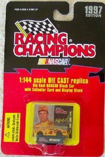 1997 Nascar Racing Champions Sterling Marlin #4 1144 Scale Die Cast Replica Stock Car with Collector Card and Display Stand Toys & Games