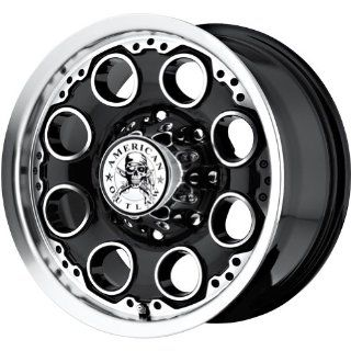 "American Outlaw Patrol Black Machined Face Wheel with Machined Finish (20x9""/6x139.7mm) Automotive"