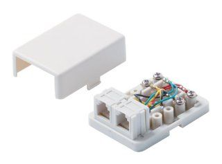 Steren 300 146WH 4C 2 Tel Surface Jack, White Electronics