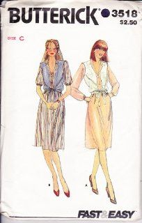 "Butterick 3518 Vintage 80's Womens Sewing Pattern Dress and Vest Size 12 14 16 Bust 34 36 38"": Everything Else"