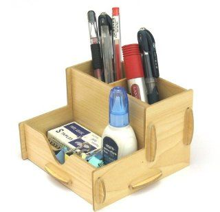 Storage Box diy Wooden Section Organizer Container Box Office home K0518