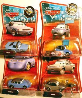 Disney Pixar CARS Exclusive 155 Die Cast Car Final Lap Series Race Track Bundle   Bert, Artie, Jay Limo & Matthew True Blue: Toys & Games