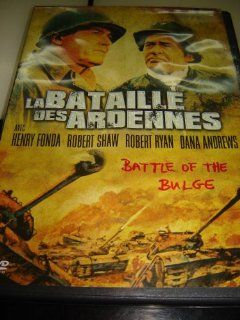 La Bataille des Ardennes / Battle of the Bulge / REGION 2 PAL DVD / Audio: English, French / Subtitles: English, French, Dutch, Arabic / Actors: Henry Fonda, Robert Shaw, Robert Ryan / Director : Ken Annakin / 149 min: Henry Fonda, Robert Shaw, Robert Ryan