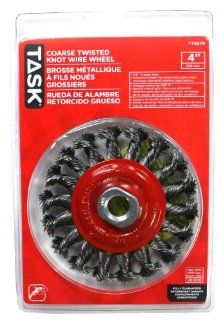 Task Tools T25676 4 Inch Twisted Knot Coarse Steel Wire Wheel: Home Improvement