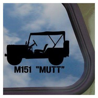 M151 Mutt Vietnam Era Jeep Top Up Black Decal Car Sticker   Automotive Decals