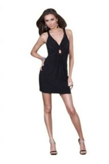 La Femme 16855, Classic Short Black Dress: Clothing
