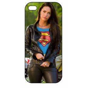 Megan Fox, Superman Logo, iPhone 5 Premium Plastic Case 164, Aluminium Layer, Movie Theme Shell, Cover: Cell Phones & Accessories