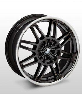 """19x8 Forte F18 """"Smoke"""" (Black w/ Chrome Lip) Wheels/Rims 5x114.3 (F18 98066HST) Automotive"""