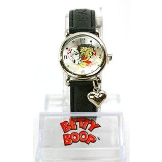 Betty Boop Womens Charm Bracelet Leather Strap Watch #BB W159A: Watches