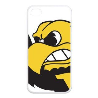 NCAA Iowa Hawkeyes Logo Unique Durable TPU Rubber Case Cover for Apple Iphone 4 4S Custom Design UniqueDIY: Cell Phones & Accessories
