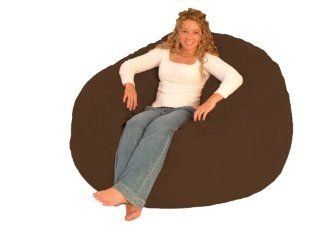 Comfort Research 5 Feet Diameter King Fuf Chair Chocolate Micro Suede   Bean Bag Chairs