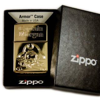 Lighter   Captain Morgan Zippo 169 High Polish Brass (Engraved by Hip Flask Plus): Kitchen & Dining