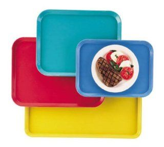 "Cambro 1014CL163 Rectangular Camlite Tray   10 5/8x13 3/4"" Rose Red, Dozen: Kitchen & Dining"