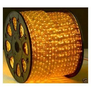 164 Feet Yellow Amber 2 Wire LED Rope Light Decorative Home, Bar, Christmas Lighting: Home Improvement