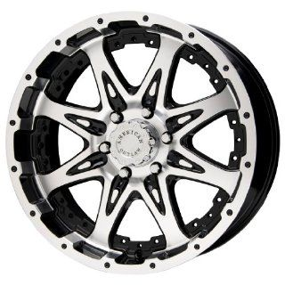 """American Outlaw Buckshot Series Black Wheel with Machined Face (16x8""""/8x165.1mm) Automotive"""