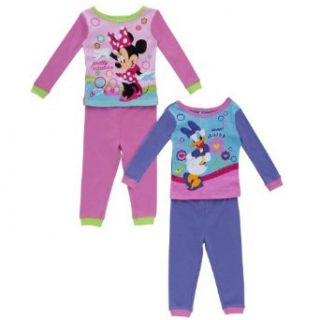 Disney Pretty Minnie & Sweet Daisy Toddler Girl's Pajamas   2 Pack Size 3T: Clothing