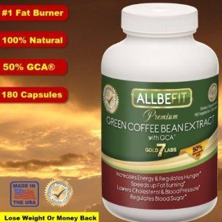 #1 Allbefit 100% Pure Green Coffee Bean Extract, 800mg with 50% GCA   180 veg. Capsules   All Natural   **BONUS** E Book The 24 Hour Weight Loss Secret   As Seen On TV   Clinically Proven   Weight Loss Bestseller Health & Personal Care