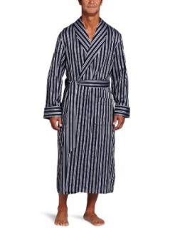 Derek Rose Men's Royal 173 Shawl Collar Robe, Navy, X Large: Clothing