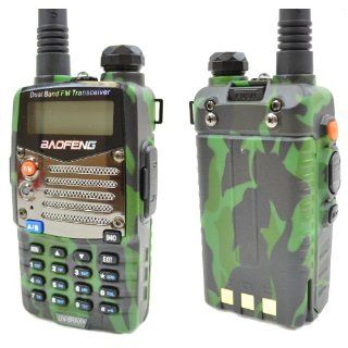 Baofeng Green/Camo UV 5RA X+ *UV 5RAX+ Plus* Dual Band 136 174/400 480 MHz FM Ham Two way Radio, Improved Stronger Case, Enhanced Features (Latest 2013 Upgradable Firmware) : Frs Two Way Radios : Car Electronics
