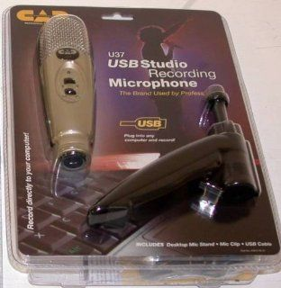 CAD Audio U37 USB Studio Recording Microphone Desktop Microphone EPF 15A Pop Fil: Musical Instruments