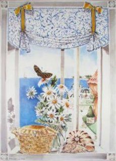 Stupell Industries FW 176 Daisies and Buttefly Faux Window Scene   Artwork