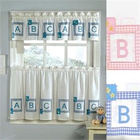 Kids Curtains  Babys  Room Curtain  Alphabet Blocks Kids Curtains