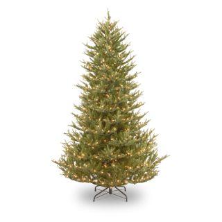 7.5 ft. Balsam Fir Medium Hinged Pre Lit Christmas Tree   Christmas Trees