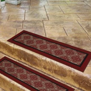 Mohawk Industries Single Border Sheikh Tread 9 x 30 Stair Tread Mat   Set of 3   Outdoor Doormats