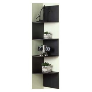 4D Concepts Hanging Corner Storage   Black   Bookcases