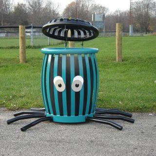 Paris Equipment 22 Gallon Octopus Creature Can Litter Receptacle   Trash Cans