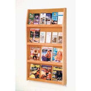 24 Pocket Magazine & Brochure Wall Rack   Commercial Magazine Racks