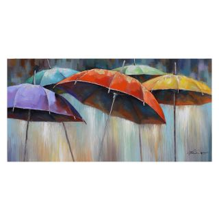 Yosemite Home Decor Umbrellas Wall Art   55W x 27.5H in.   Hand Painted Art