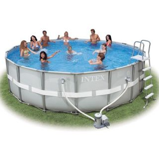 Intex Ultra Frame Saltwater System Round Above Ground Pool   52 in. Deep   Swimming Pools & Supplies