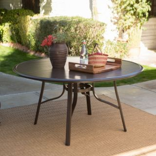 Coral Coast Del Rey 57 in. Round Aluminum Slat Top Patio Dining Table   Patio Tables