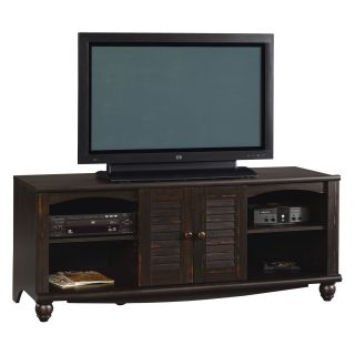 Sauder Harbor View Entertainment Credenza   Antiqued Paint   TV Stands