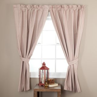 Ellis Curtain Springfield Stripe Tailored Curtain Panel with Ties   One Pair   Curtains
