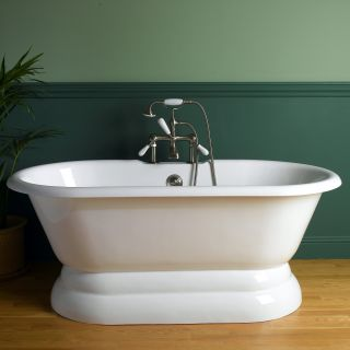 Sunrise 66 in. Classic Pedestal Cast Iron Freestanding Tub   Freestanding Tubs
