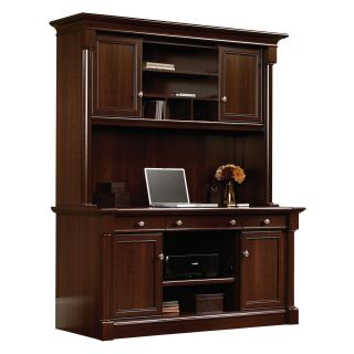Sauder Palladia Credenza with Hutch   Select Cherry   Computer Desks