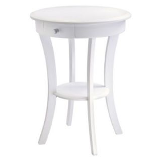 Winsome Sasha Round Accent Table   White   End Tables