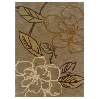 Linon Trio Space Dyed Floral Area Rug   Area Rugs
